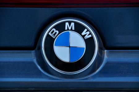 bmw: Close-up BMW Chrome metal