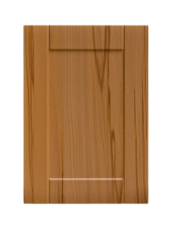 coatings: Wooden cabinet door, isolated white background