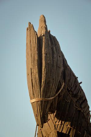 Wooden giant trojan horse in Cannakalle - Turkey this was used in brad pitt troya movie. Photo taken on: September, 2015