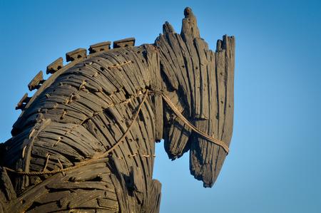 brad pitt: Wooden giant trojan horse in Cannakalle - Turkey this was used in brad pitt troya movie. Photo taken on: September, 2015