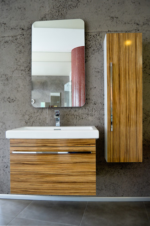 Detail from a modern and contemporary bathroom