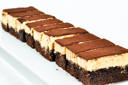 Prepared for special occasions, delicious and beautiful brownie cake