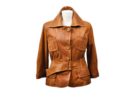 jupe: Ostrich leather jacket from a stylish design