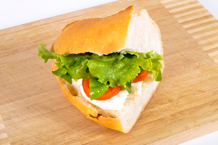 worthy: Yummy and delicious looking sandwich, worthy of a full mouth Stock Photo