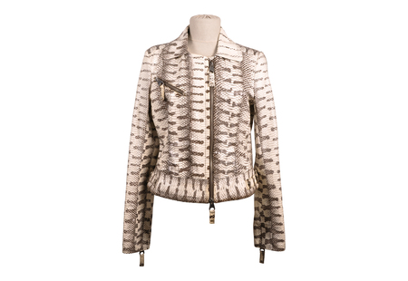 jupe: Python leather jacket from a stylish design