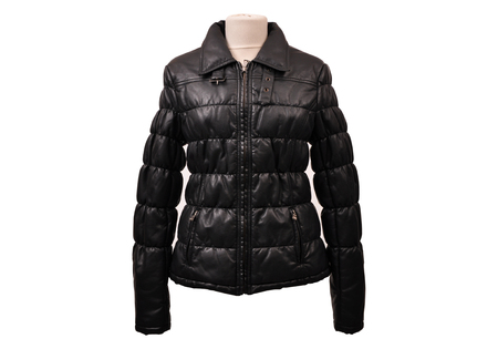 jupe: Real leather jacket from a stylish design