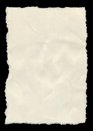 unlined: Unlined, clean white torn paper isolated on a black background