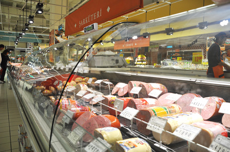 Istanbul Maltepe Carrefour has opened a new branch. Deli section