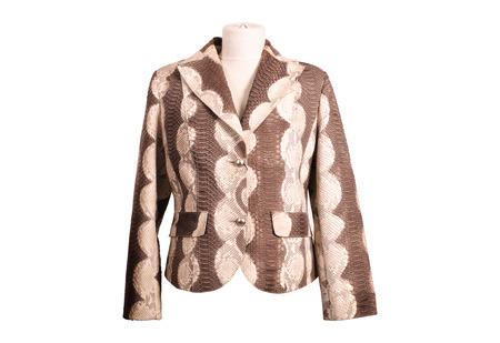 jupe: Python leather jacket from a stylish design