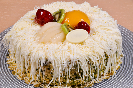 Good looking, delicious and beautiful fruit cake
