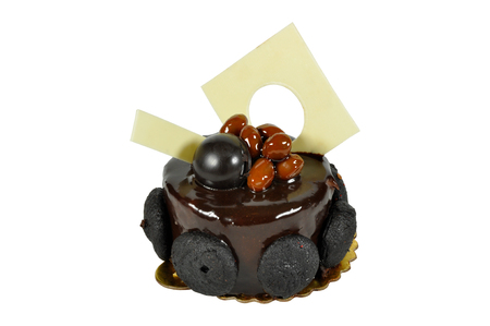 Prepared for special occasions, chocolate delicious and beautiful cake