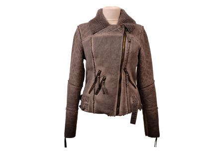 Nubuck leather jacket from a stylish design