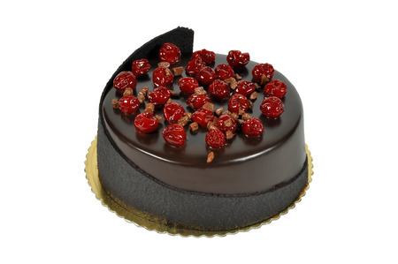 Prepared for special occasions, delicious and beautiful cherry cake
