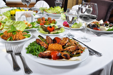 A nice example of chicken wing grilled turkish cuisine