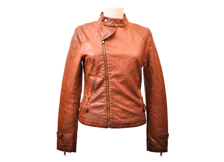 jupe: Bright leather jacket from a stylish design