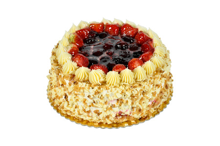 Prepared for special occasions, delicious and Strawberry and blackberry cake Stok Fotoğraf