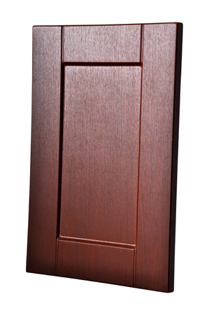 Wooden cabinet door, isolated white background