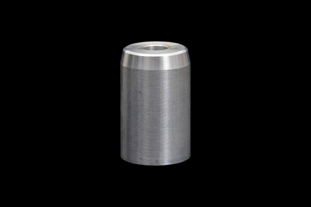 aluminium: A piece of metal used in the mechanical industry Stock Photo