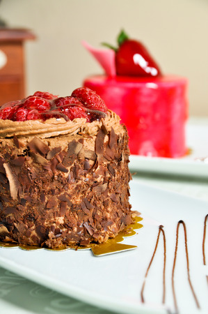 Prepared for special occasions, delicious and beautiful cake and Turkish tea