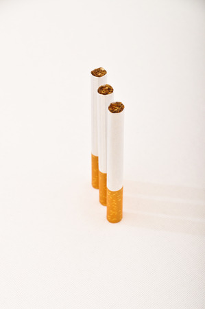 Typical filter cigarette isolated on white background Stock Photo - 89137264