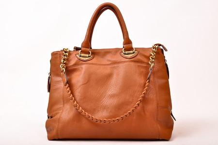 A stylish bag lady on a white background Reklamní fotografie - 89058400