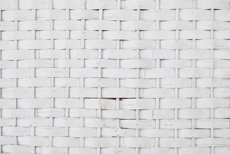 Rattan wicker texture with handmade traditional and dry branches, wicker white texture background, natural pattern woven wicker Archivio Fotografico
