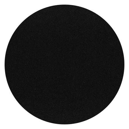 High round black sandpaper surface texture, background sanding paper