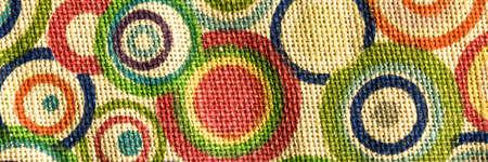 Colorful textile woven linen fabric, high quality jute fabric macro shoot Stock fotó