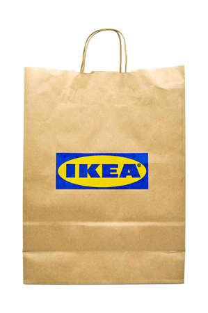 Paper bags used in home improvement stores in Turkey Ikea, Ikea recyclable paper bag, natural Product, Istanbul Turkey 06 September 2020 Redactioneel