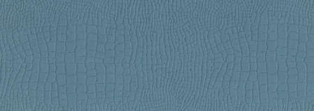 Suitable for background, crocodile leather texture surface kraft blue paper close-up, can be used for web templates and artworks