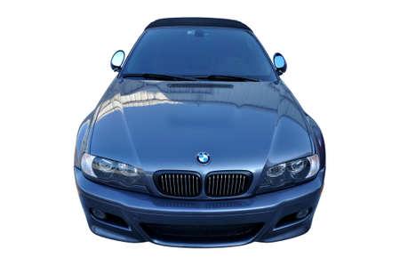 Old BMW M3 metalic blue, luxury car in Istanbul city, October 06 2011 Istanbul Pendik Turkey used car market