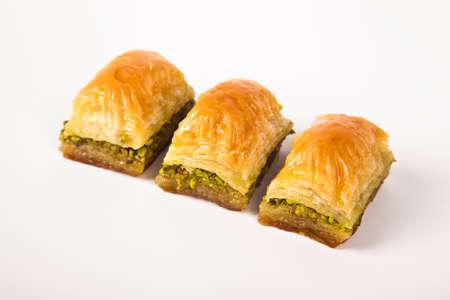 Baklava with pistachio, one of the most beautiful desserts of Turkish cuisine. Turkish dessert baklava Standard-Bild