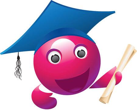 Violet Mascot Vector