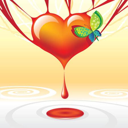 hemorragia: cultivos coraz�n Vectores