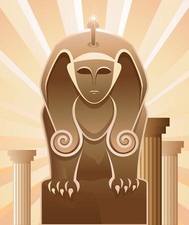 stone lion: sphinx