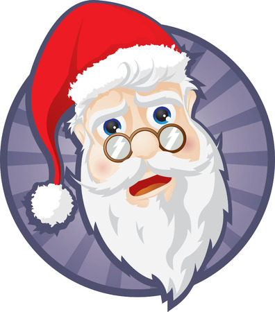 saint claus head Vector