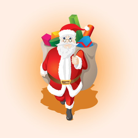 Santa Clous Gift Stock Vector - 3974795