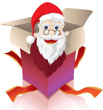 Santa clous box Vector