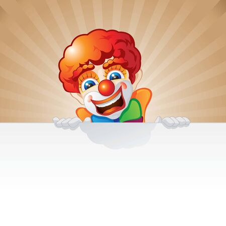 clown and board Illustration