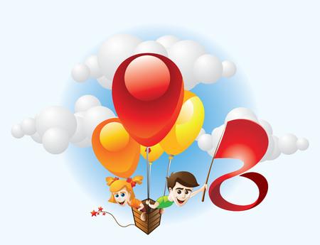 Children and Balloon
