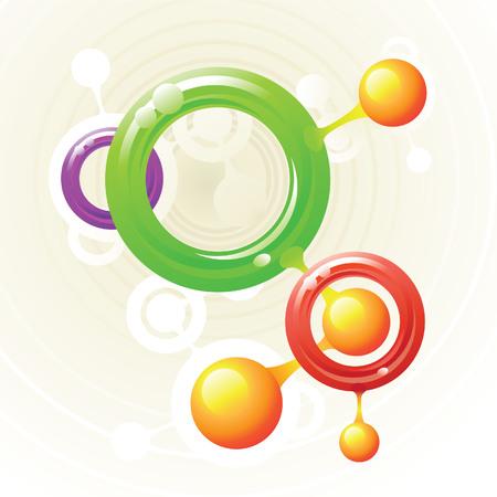 Molecule rings Stock Vector - 4215814