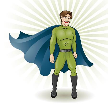 super young hero Stock Vector - 4300445