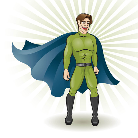 superhero cape: super young hero