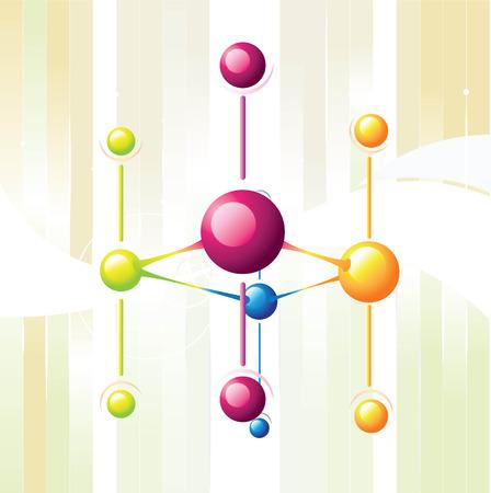 molecule line Illustration