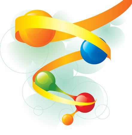 molecule spiral Stock Vector - 5137699