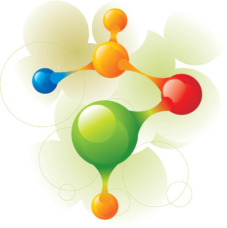 molecule green Vector