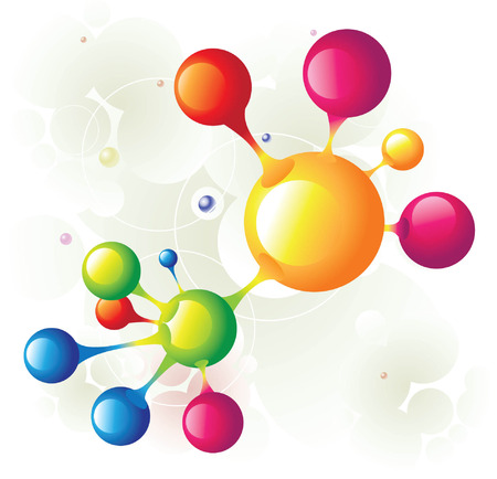molecule combined Stock Vector - 5137712