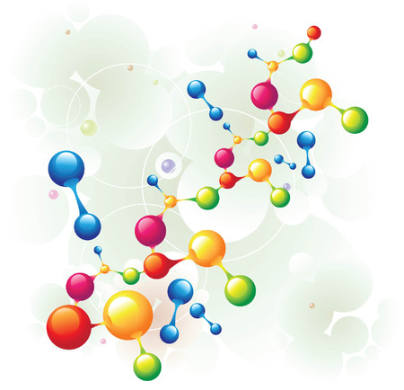 product background: molecule mixed two