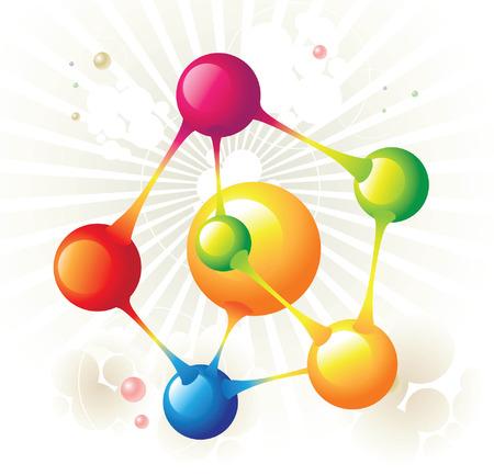 molecule pentagon Vector