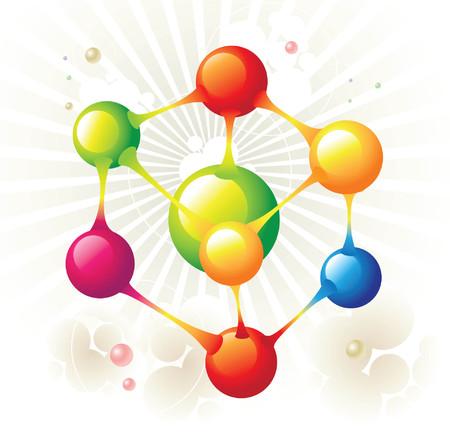 molecule icon: molecule hexagon Illustration
